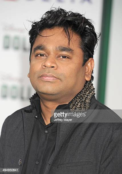 Composer AR Rahman arrives at the Los Angeles premiere of 'Million Dollar Arm' at the El Capitan Theatre on May 6 2014 in Hollywood California