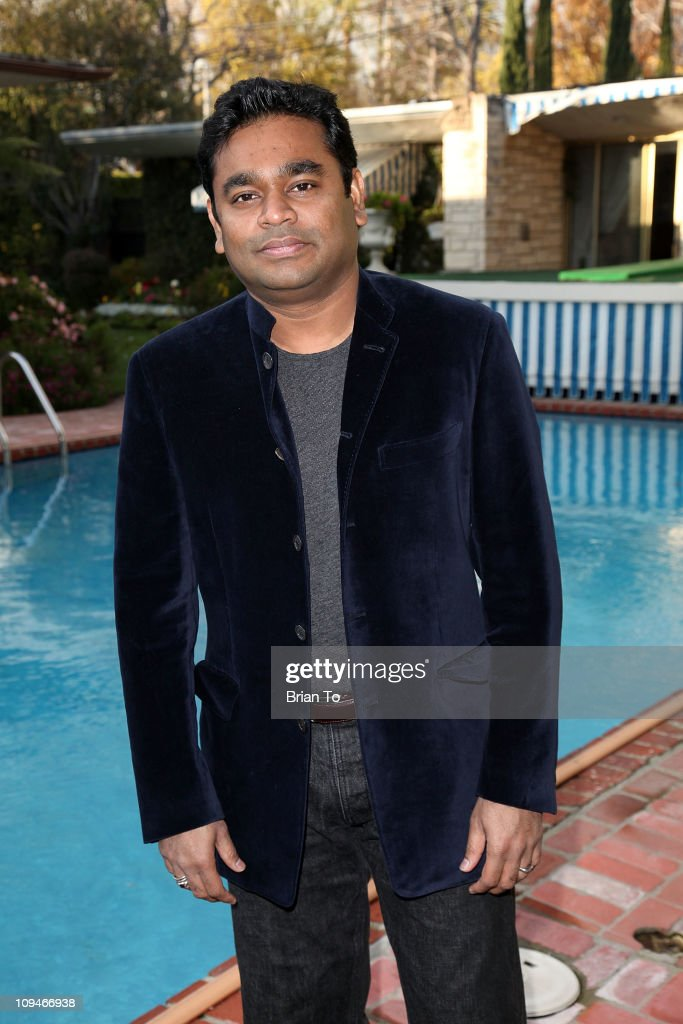 Composer <a gi-track='captionPersonalityLinkClicked' href=/galleries/search?phrase=A.R.+Rahman&family=editorial&specificpeople=1269970 ng-click='$event.stopPropagation()'>A.R. Rahman</a> attends SCL presents annual pre-Oscar champagne reception honoring 2011 Academy Award nominees in score and song on February 26, 2011 in Beverly Hills, California.