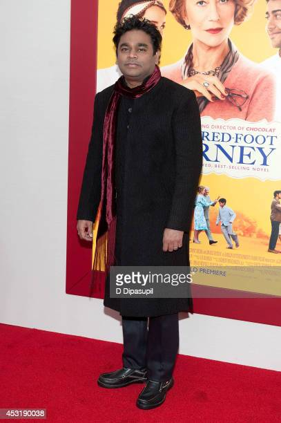 Composer AR Rahman attends 'The HundredFoot Journey' New York premiere at the Ziegfeld Theater on August 4 2014 in New York City