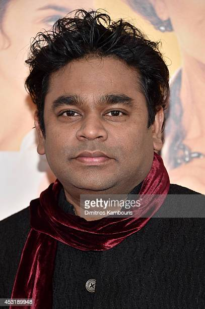 Composer AR Rahman attends the 'The HundredFoot Journey' New York premiere at Ziegfeld Theater on August 4 2014 in New York City