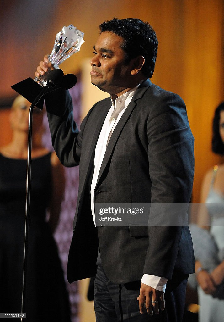 Composer <a gi-track='captionPersonalityLinkClicked' href=/galleries/search?phrase=A.R.+Rahman&family=editorial&specificpeople=1269970 ng-click='$event.stopPropagation()'>A.R. Rahman</a> onstage during VH1's 14th Annual Critics' Choice Awards held at the Santa Monica Civic Auditorium on January 8, 2009 in Santa Monica, California.