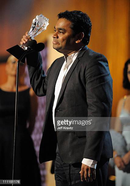 Composer AR Rahman onstage during VH1's 14th Annual Critics' Choice Awards held at the Santa Monica Civic Auditorium on January 8 2009 in Santa...