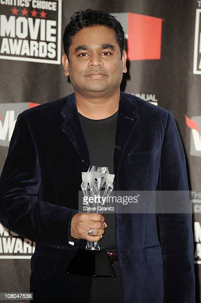 Composer AR Rahman poses in the press room at the 16th Annual Critics' Choice Movie Awards at the Hollywood Palladium on January 14 2011 in Los...