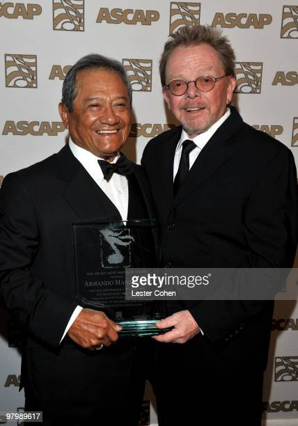 Composer Armando Manzanero and ASCAP President Chairman of the Board Paul Williams arrive at 18th Annual ASCAP Latin Music Awards at The Beverly...