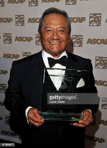Composer Armando Manzanero arrives at 18th Annual ASCAP Latin Music Awards at The Beverly Hilton hotel on March 23 2010 in Beverly Hills California