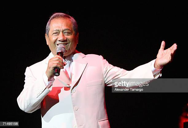 Composer Armando Manzanero performs at Hard Rock Live at the Seminole Hard Rock Hotel and Casino on July 20 2006 in Hollywood Florida