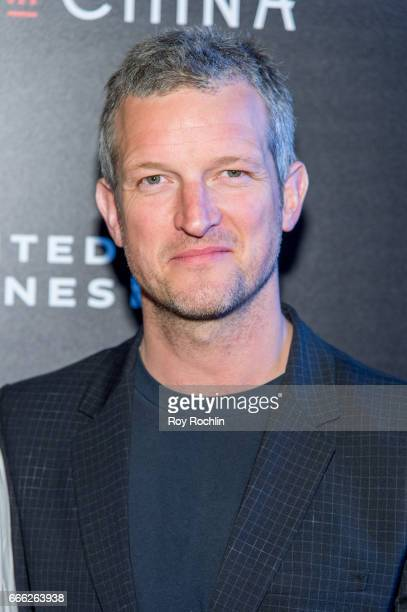 Composer Barnaby Taylor attends Disneynature with the Cinema Society host the premiere of 'Born in China' at Landmark Sunshine Cinema on April 8 2017...