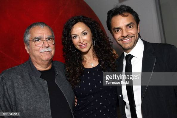 Composer Carlo Siliotto actress Sofia Milos and director/actor Eugenio Derbez attend the 'Instructions Not Included' screening and reception on...