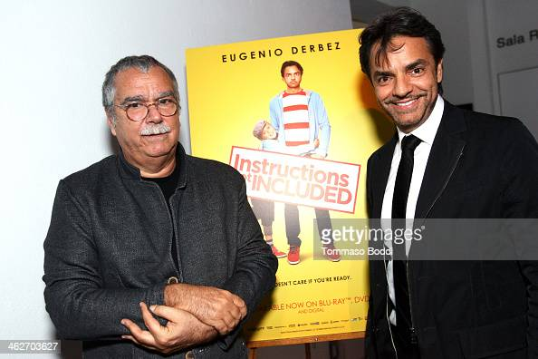 Composer Carlo Siliotto and director/actor Eugenio Derbez attend the 'Instructions Not Included' screening and reception on January 14 2014 in Los...