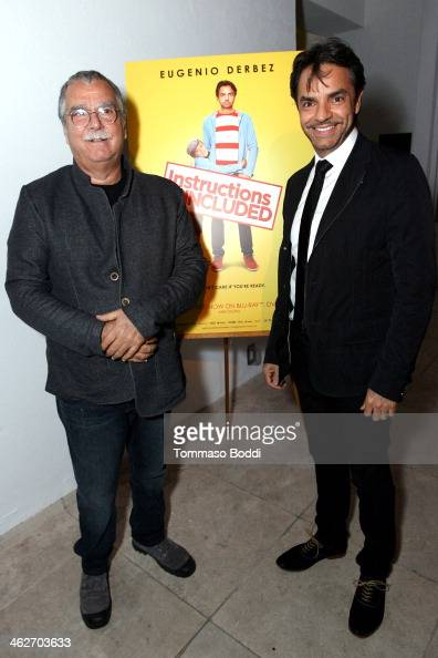 Composer Carlo Siliotto director/actor Eugenio Derbez attends the 'Instructions Not Included' screening and reception on January 14 2014 in Los...
