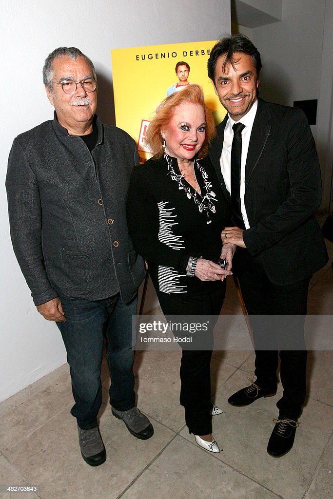 Composer Carlo Siliotto singer/actress Carol Connors and director/actor Eugenio Derbez attend the 'Instructions Not Included' screening and reception...