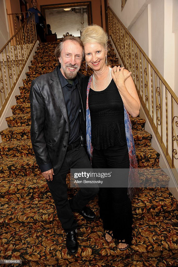 Composer Charles Bernstein (L) and wife Georgianne Bernstein attend Varese Sarabande Worldwide 35th Anniversary Special Halloween Concert Gala at Warner Grand Theatre on October 19, 2013 in San Pedro, California.