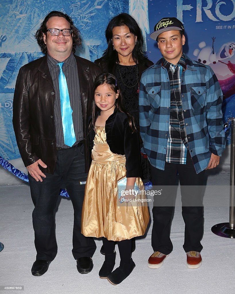 Composer Christophe Beck (L) and family attend the premiere of Walt Disney Animation Studios' 'Frozen' at the El Capitan Theatre on November 19, 2013 in Hollywood, California.