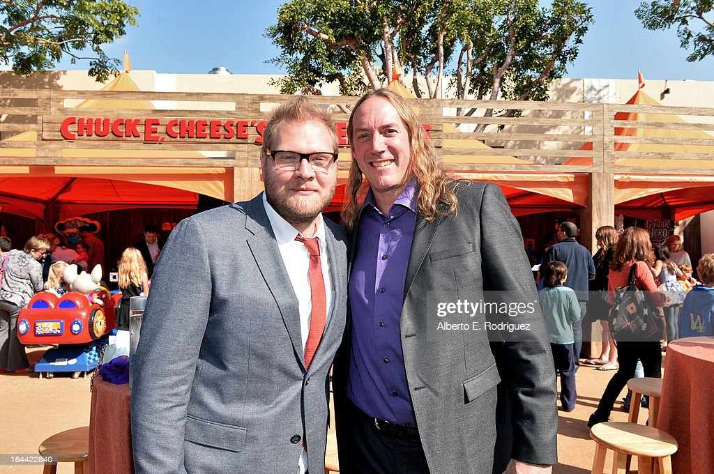 Composer Cominic Lewis (L) and actor/musician Danny Carey attend the premiere of Relativity Media's 'Free Birds' after party at the Westwood Village Theatre on October 13, 2013 in Hollywood, California.