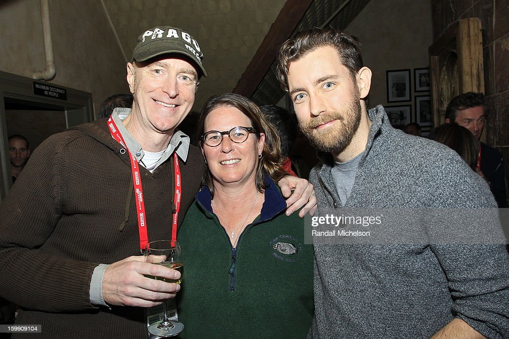 Composer Craig Richey, BMI Executive Alison Smith and Publicist Chandler Poling attend the BMI Sundance Dinner at Zoom Restaurant on January 22, 2013 in Park City, Utah.