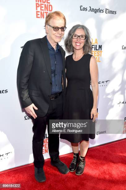 Composer Danny Elfman and contestant Catherine Fauteux attend the premiere of 'Rabbit Rogue' during the 2017 Los Angeles Film Festival at Arclight...
