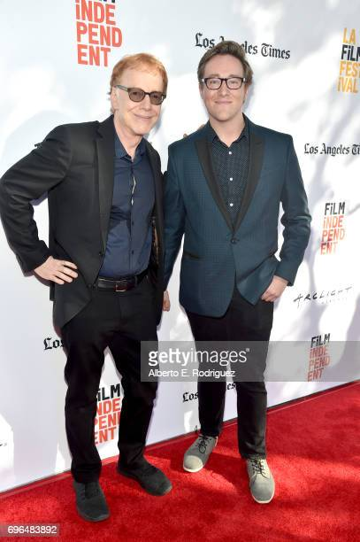 Composer Danny Elfman and contestant Matt Eckholm attend the premiere of 'Rabbit Rogue' during the 2017 Los Angeles Film Festival at Arclight Cinemas...