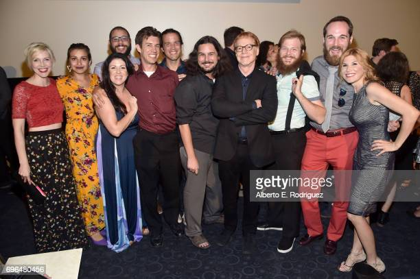 Composer Danny Elfman and contestants attend the premiere of 'Rabbit Rogue' during the 2017 Los Angeles Film Festival at Arclight Cinemas Culver City...