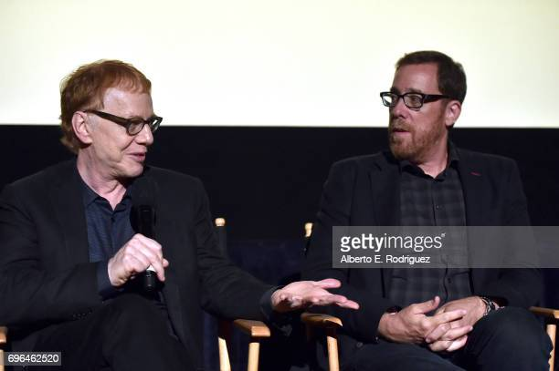 Composer Danny Elfman and director Rob Minkoff attend the premiere of 'Rabbit Rogue' during the 2017 Los Angeles Film Festival at Arclight Cinemas...