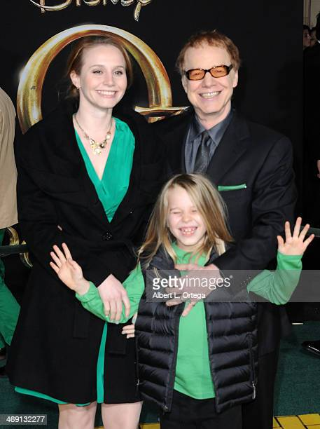 Composer Danny Elfman daughter Mali Elfman and son Oliver Elfman arrive for The Premiere Of Walt Disney Pictures' 'Oz The Great And Powerful' held at...