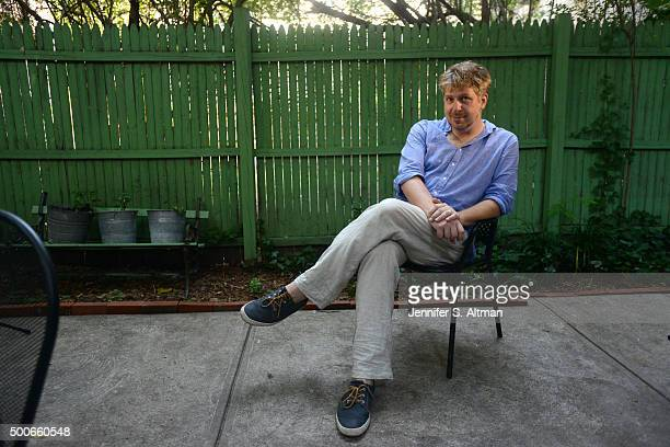 Composer Dave Malloy is photographed for Boston Globe on August 18 2015 in New York New York City