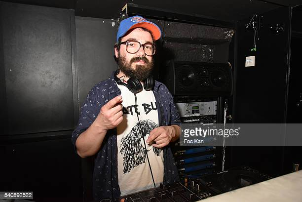 Composer David Stanzke creator of Tahiti Boy and the palmtree performs as DJ during 'Casablancas L'Homme Qui Aimait Les Femmes' Party at Castel Club...