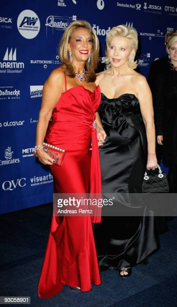 Composer Denise Rich and host Ute Ohoven attend the Unesco Charity Gala 2009 at the Maritim Hotel on November 14 2009 in Dusseldorf Germany