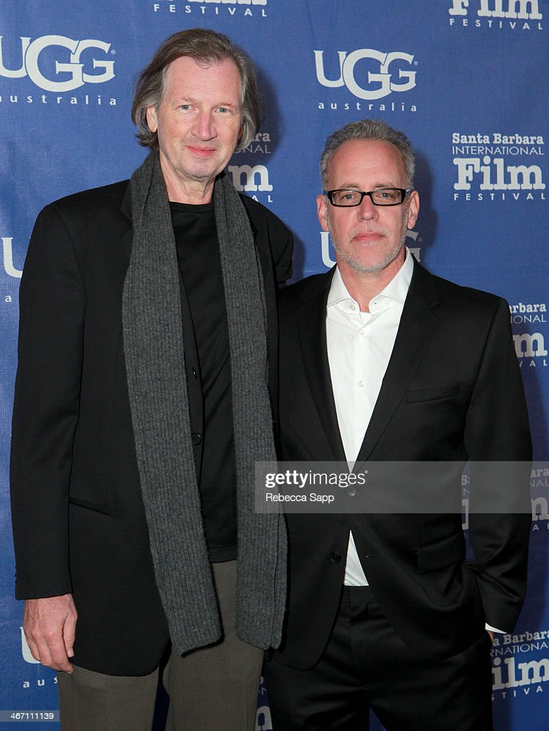 Composer Elia Cmiral and director Mark Young attend the 29th Santa Barbara International Film Festival Montecito Award to Oprah Winfrey at the Arlington Theatre on February 5, 2014 in Santa Barbara, California.