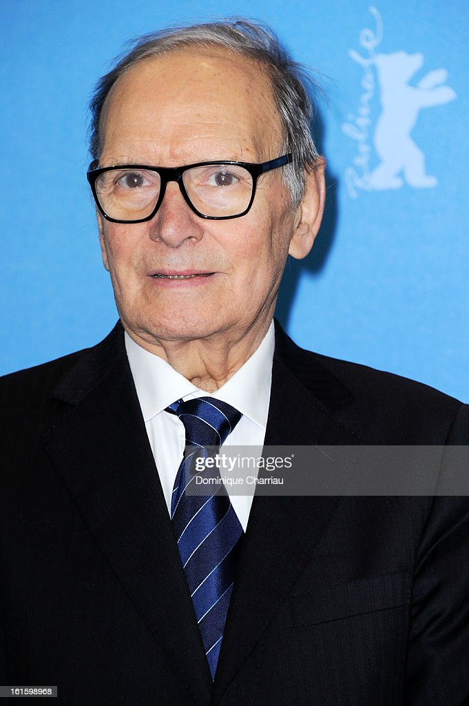 Composer <a gi-track='captionPersonalityLinkClicked' href=/galleries/search?phrase=Ennio+Morricone&family=editorial&specificpeople=677347 ng-click='$event.stopPropagation()'>Ennio Morricone</a> attends the 'The Best Offer' Photocall during the 63rd Berlinale International Film Festival at the Grand Hyatt Hotel on February 12, 2013 in Berlin, Germany.