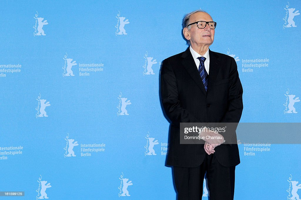 Composer Ennio Morricone attends the 'The Best Offer' Photocall during the 63rd Berlinale International Film Festival at the Grand Hyatt Hotel on February 12, 2013 in Berlin, Germany.