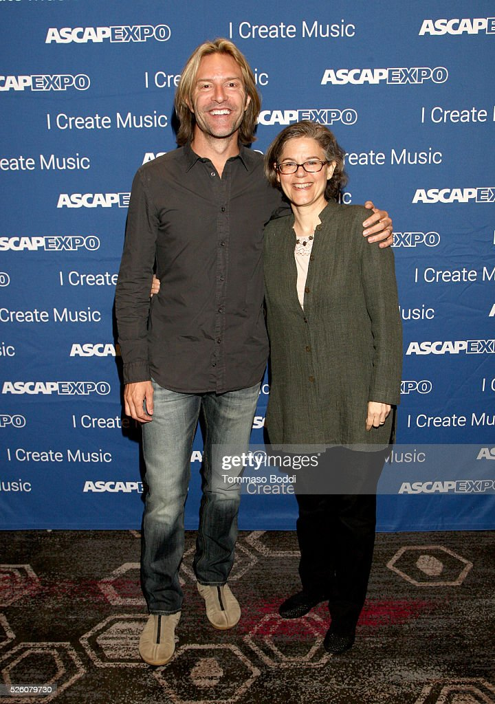 Composer Eric Whitacre (L) and ASCAP Concert Music Contracts VP Cia Toscanini attend the 2016 ASCAP 'I Create Music' EXPO on April 29, 2016 in Los Angeles, California.