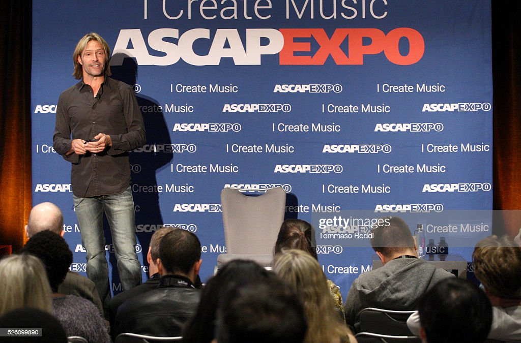 Composer Eric Whitacre participates in a master session during the 2016 ASCAP 'I Create Music' EXPO on April 29, 2016 in Los Angeles, California.