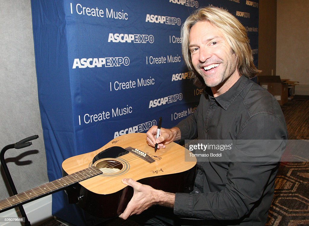 Composer Eric Whitacre signs a #StandWithSongwriters guitar, which will be presented in May to members of Congress to urge them to support reform of outdated music licensing laws, during the 2016 ASCAP 'I Create Music' EXPO on April 29, 2016 in Los Angeles, California.