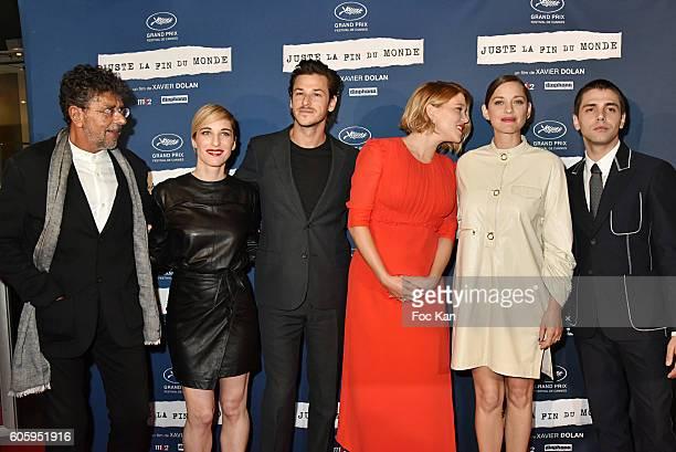 Composer Gabriel Yared Nancy Grant Gaspard Ulliel Lea Seydoux Marion Cotillard and Xavier Dolan attend 'Juste La Fin Du Monde' Paris Premiere At MK2...