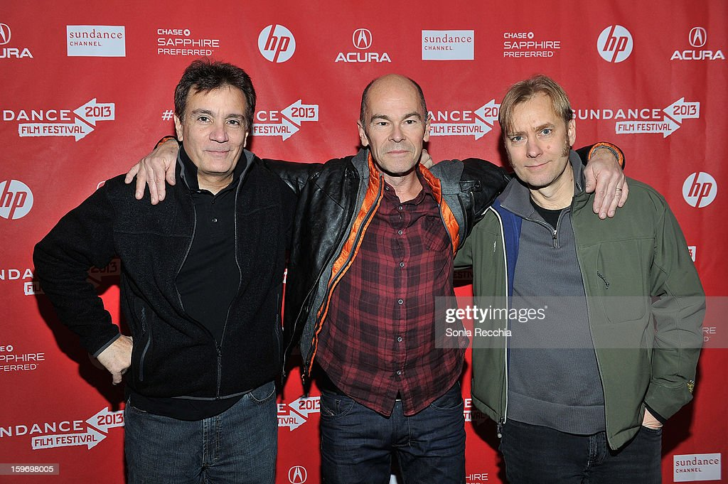 Composer Gary Lionelli, director Robert Stone and editor Don Kleszy attend the 'Pandora's Promise' premiere at Prospector Square during the 2013 Sundance Film Festival on January 18, 2013 in Park City, Utah.