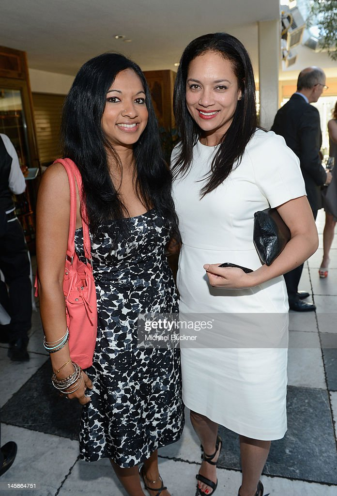 Composer Gingger Shankar (L) and Director Internal Relations, Sundance Institute Jennifer Arceneaux attend the Sundance Institute Benefit presented by Tiffany & Co. in Los Angeles held at Soho House on June 6, 2012 in West Hollywood, California.