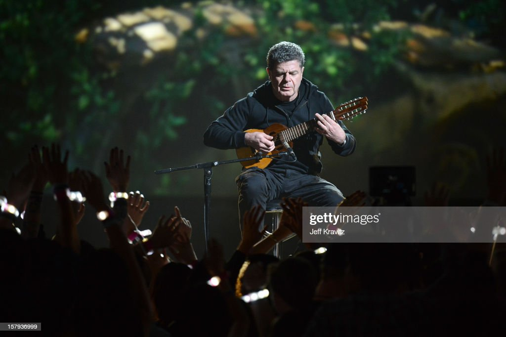Composer <a gi-track='captionPersonalityLinkClicked' href=/galleries/search?phrase=Gustavo+Santaolalla&family=editorial&specificpeople=632513 ng-click='$event.stopPropagation()'>Gustavo Santaolalla</a> performs onstage during Spike TV's 10th annual Video Game Awards at Sony Pictures Studios on December 7, 2012 in Culver City, California.