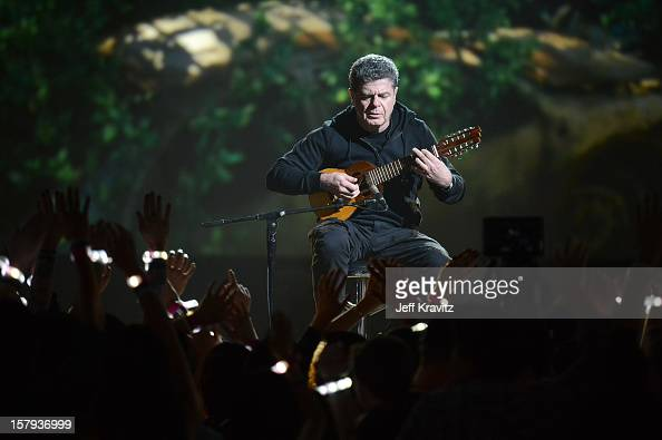 Composer Gustavo Santaolalla performs onstage during Spike TV's 10th annual Video Game Awards at Sony Pictures Studios on December 7 2012 in Culver...
