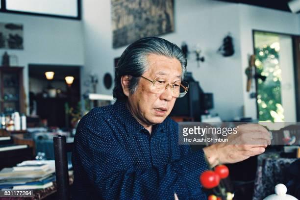 Composer Ikuma Dan speaks during the Asahi Shimbun interview on August 25 1993 in Yokosuka Kanagawa Japan
