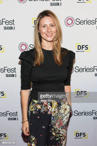 Composer Jamie Jackson arrives to the Women In Entertainment panel discussion for SeriesFest Season 3 at Sie FilmCenter on July 1 2017 in Denver...