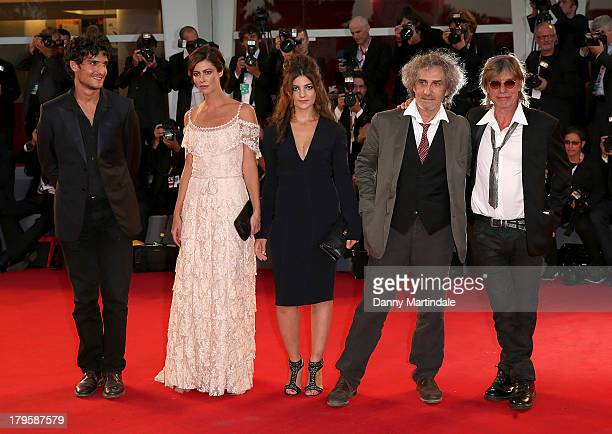 Composer Jean Louis Aubert director Philippe Garrel actors Esther Garrel Anna Mouglalis and Louis Garrel attends 'La Jalousie' Premiere during the...