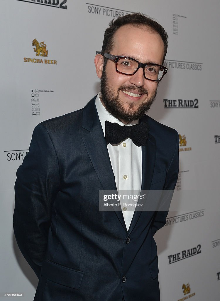 Composer Joe Trapanese arrives to the premiere of Sony Pictures Classics' 'The Raid 2' at Harmony Gold Theatre on March 12, 2014 in Los Angeles, California.