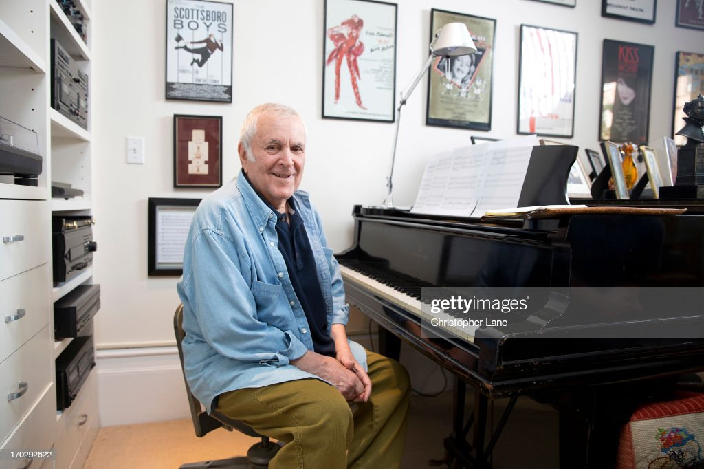 Composer <a gi-track='captionPersonalityLinkClicked' href=/galleries/search?phrase=John+Kander&family=editorial&specificpeople=631079 ng-click='$event.stopPropagation()'>John Kander</a> is photographed for The London Times on October 10, 2012 in New York City. PUBLISHED