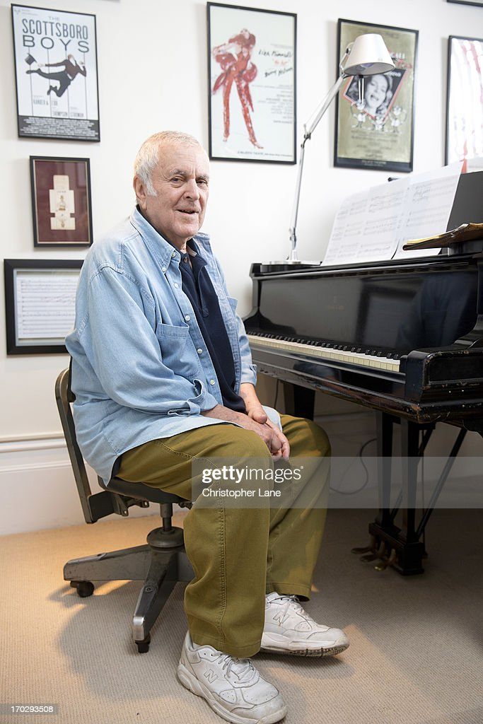 Composer <a gi-track='captionPersonalityLinkClicked' href=/galleries/search?phrase=John+Kander&family=editorial&specificpeople=631079 ng-click='$event.stopPropagation()'>John Kander</a> is photographed for The London Times on October 10, 2012 in New York City.