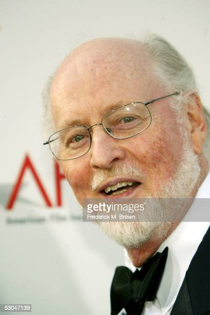 Composer John Williams arrives at the 33rd AFI Life Achievement Award tribute to George Lucas at the Kodak Theatre on June 9 2005 in Hollywood...