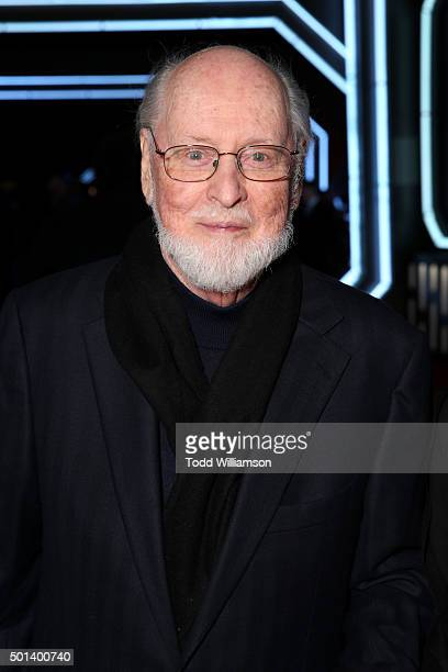 "Composer John Williams attends the World Premiere of ""Star Wars The Force Awakens"" at the Dolby El Capitan and TCL Theatres on December 14 2015 in..."