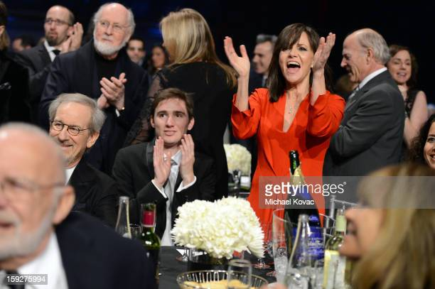 Composer John Williams director Steven Spielberg Sam Greisman and actress Sally Field attend the Critics' Choice Movie Awards 2013 with Skinnygirl...