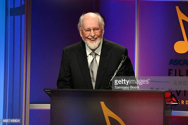 Composer John Williams speaks on stage during the 30th Annual ASCAP Film Television Music Awards at The Beverly Hilton Hotel on March 9 2015 in...
