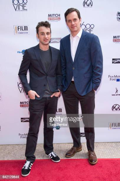 Composer Justin Hurwitz and actor Tom Everett Scott arrives for the 6th Annual Made in Hollywood Honors at Heart of Hollywood Terrace on February 16...