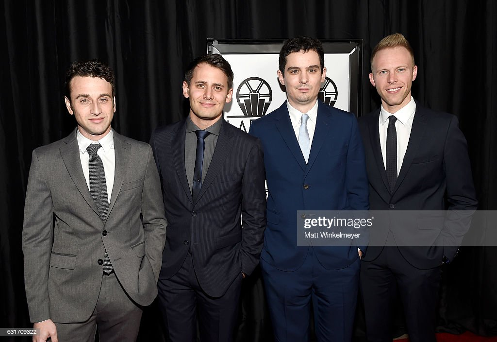 Composer Justin Hurwitz, lyricist Benj Pasek, lyricist Justin Paul and director Damien Chazelle attend attend the 42nd annual Los Angeles Film Critics Association Awards at InterContinental Los Angeles Century City on January 14, 2017 in Los Angeles, California.